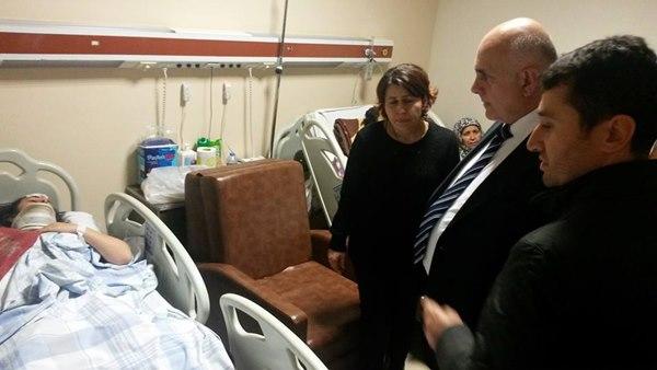 Ak Parti Isparta Milletvekili Süreyya Sadi Bilgiç kazada yaralanan öğrencileri Afyonkarahisar Devlet Hastanesinde ziyatet etti.