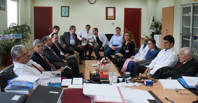 Prof. Dr. Kalayoğlu, SDÜ Hastanesi'ne ziyarette bulundu