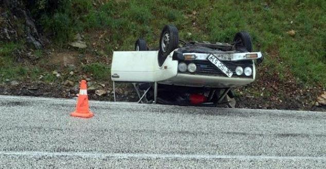 Eğirdir'de trafik kazası : 1 yaralı