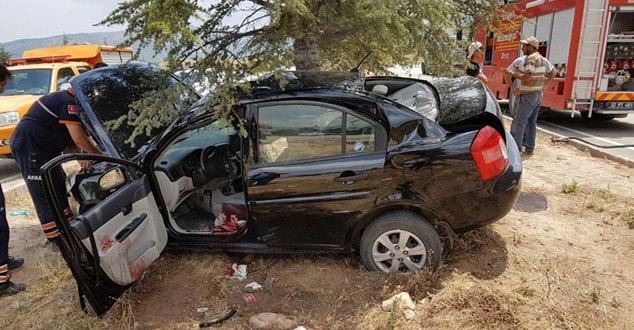 Isparta'da trafik kazası : 1 ölü