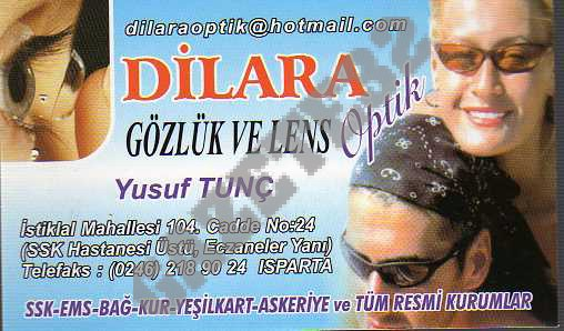 Dilara Gözlük ve Lens