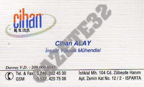 Cihan İnş.Tic.Ltd.Şti