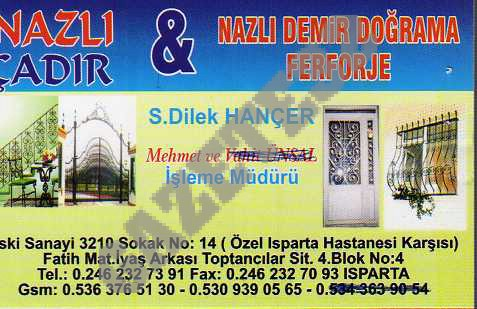Nazlı Çadır &Demir Doğrama