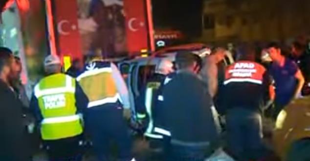 Isparta'da trafik kazası : 1 yaralı