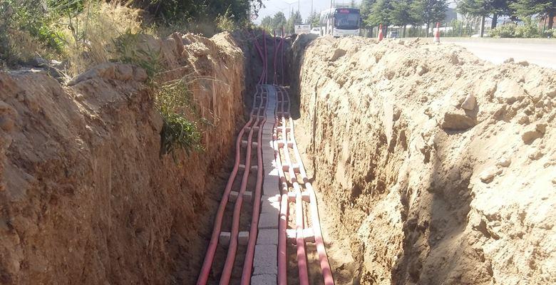 Isparta'da enerji nakil hatları 'yeraltına' alınıyor