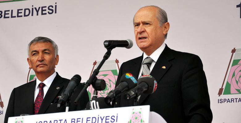 MHP lideri Bahçeli'nin Isparta programı