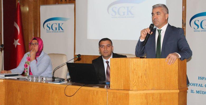 SGK, Milli Eğitim Müdürlüğü personellerini bilgilendirdi