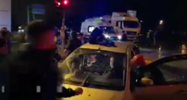 Isparta'da trafik kazası : 1 ölü, 4 yaralı