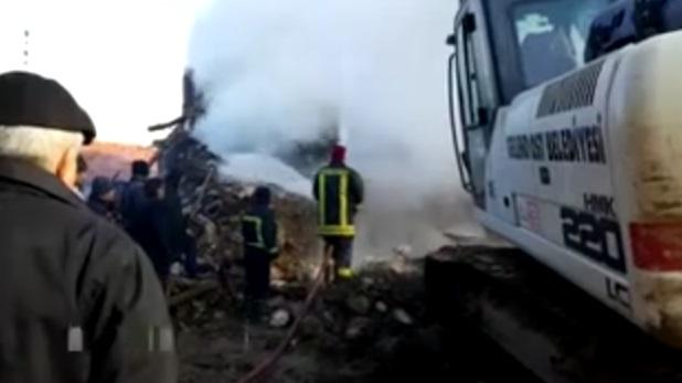 4 evin kül olduğu yangında yaşlı çift yaşamını yitirdi