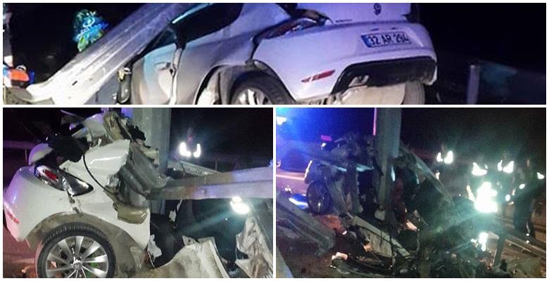 Isparta'da trafik kazası : 2 ölü