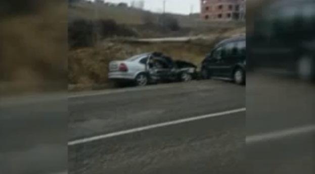 Yalvaç'ta trafik kazası : 1 yaralı