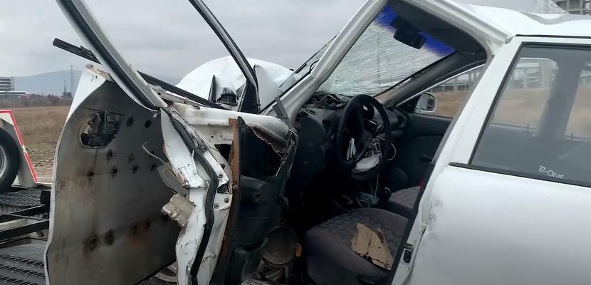 Çünür'de Trafik Kazası :  3 Yaralı