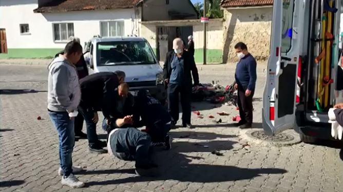 Otomobil İle Motosiklet Çarpıştı :  1 Yaralı
